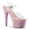 Plateau Sandalette Bejeweled-708MS baby pink