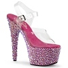 Plateau Sandalette Bejeweled-708MS pink