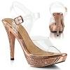 Plateau Sandalette Elegant-408 gold