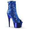 Plateau Stiefelette Adore-1008SQ blau