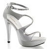 Plateau Strass Sandalette Cocktail-526 silber