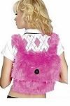 Plüsch Schultasche hot pink