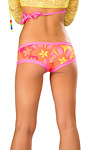 Pole Dance Shorts Neon Flower