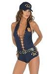 Police Romper - Polizistin Kostüm