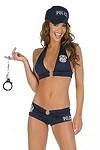 Police Top & Shorts - Kostüm