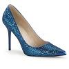 Pumps Classique-20 blau Glitter