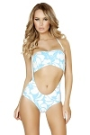 Retro GoGo Outfit Blue Hawaii