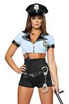 Retro Police Cop Polizei Kostüm - Police Woman