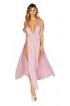 Satin Abendkleid Rosé Dream
