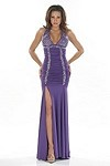 Sexy Abendkleid Deep Purple