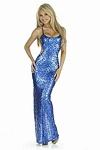 Sexy Abendkleid Lea blau