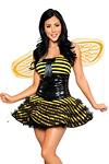 Sexy Bienen Kostüm - Fleißiges Bienchen