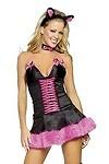 Sexy Katzen Kostüm - Pink Pussy Cat Gr.M/L
