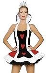 Sexy Königin der Herzen Minikleid Kostüm