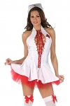 Sexy Krankenschwester Kost�m Kleid Amanda