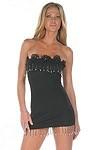 Sexy Minikleid Pearl Shine - schwarz