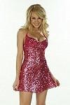 Sexy Pailletten Minikleid Denver rosa