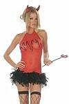 Sexy Teufel Mesh Kleid