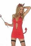 Sexy Teufel Minikleid