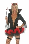 Sexy Teufels Kleid - Black Devil Fantasy