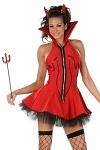 Sexy Teufels Kostüm Kleid