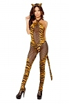 Sexy Tiger Kostüm Overall