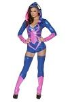 Spinnen Overall mit Stulpen - Halloween Kostüm