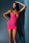 Spitzen Minikleid pink