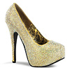 Strass Plateau Pumps Teeze-06R gold
