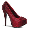 Strass Plateau Pumps Teeze-06R rot