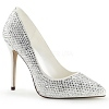 Strass Pumps Amuse-20RS weiß
