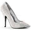Strass Pumps Seduce-420RS silber