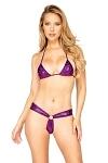 String Bikini lila