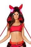 Teufel Kostüm Kapuze mit LED