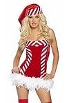 Weihnachtskostüm Candy Girl Gr.S/M