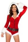 Weihnachtsmann Kostüm Overall Anzug