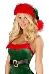 Weihnachtsmann Mütze grün/rot