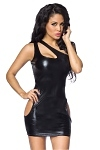 Wetlook Minikleid Cut Out